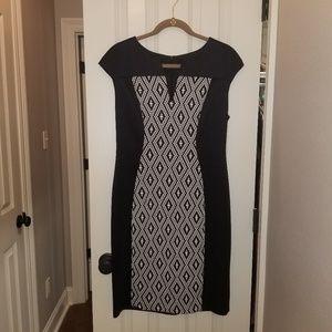 Black geo pattern Dress